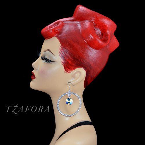 dancesport accessories, hoops, latin earrings, latin hoops, tzafora